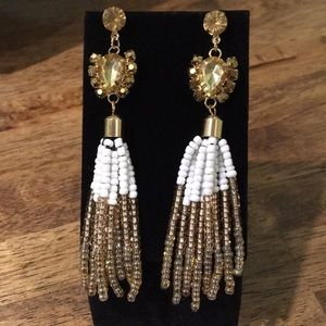 Jewelry - Sexy beaded tassel & jeweled costume earrings NEW
